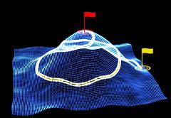Digital technology GPS traffic background. Stock vector illustration Stock Illustration