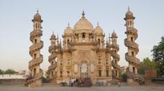 Boys relax around Mahabat Maqbara Mausoleum,Junagadh,India Stock Footage