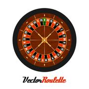 Vector Casino Gambling Roulette Wheel. Piirros