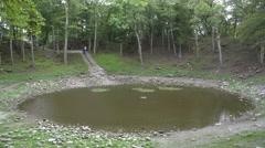 Kaali meteor crater in Estonia Stock Footage