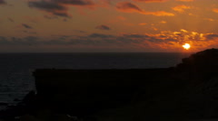 Dusk in the La Pared Bay, the sun begins to disappear Stock Footage