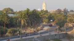 Road along coast to Diu town,Diu,India Stock Footage
