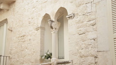 Old town romantic window Stock Footage