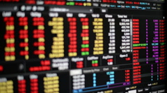 Trading board Stock Footage