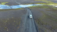 Ford crossing in Iceland Stock Footage