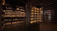 Room for storing wine Stock Footage