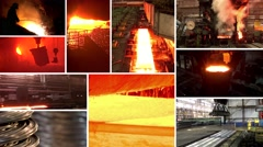 "Split screen ""Metallurgy"" Stock Footage"