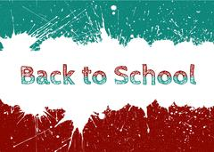 Vector Back to School Banner With Bright Ink Blue Blots Stock Illustration