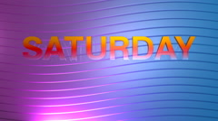 Saturday motion graphic Stock Footage