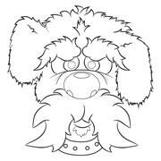 Portrait of dog illustration Stock Illustration