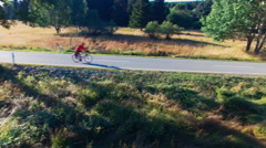 Bike ride in the countryside Stock Footage