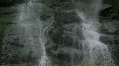 Los Tilos - the waterfall that strikes loudly on the rocks in the forest Stock Footage