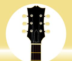 Guitar Headstock And Tuners Stock Illustration