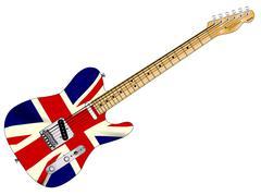 Union Jack Slab Guitar Stock Illustration