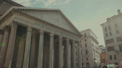 Pantheon of Rome, Italy Stock Footage