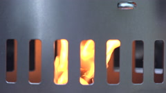 Fire wood on a charcoal grill, lit fire Stock Footage