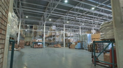 Large warehouse prodoaolstviya. Comercial store with a variety of food products Stock Footage