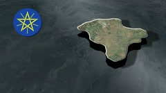 Harari Region with Coat Of Arms Animation Map Stock Footage