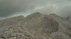 High Rocky Mountain Peaks Panorama 4K Stock Footage