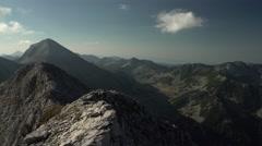Rocky Mountain Peaks View Handheld 4K Stock Footage
