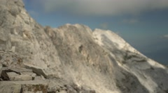 Rocky Mountain Range Focus Handheld 4K Stock Footage