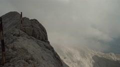 Mountain Rocks Via Ferrata Handheld 4K Stock Footage