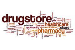 Drugstore word cloud Piirros