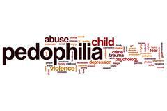 Pedophilia word cloud Stock Illustration