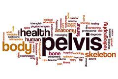 Pelvis word cloud Stock Illustration