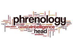 Phrenology word cloud Stock Illustration