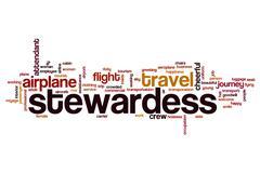 Stewardess word cloud Stock Illustration