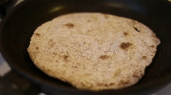 Flatbreads on the pan Stock Footage