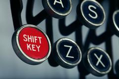 Old Shift Key Stock Photos