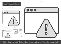 Alert window line icon Stock Illustration