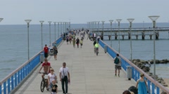 Palanga Sea Bridge, Lithuania Stock Footage