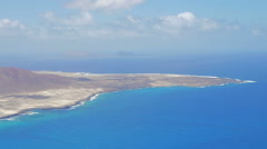 Panoramic view of  Isla Graciosa (Lanzarote) Stock Footage