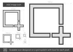 Add image line icon Stock Illustration