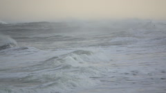 Drama of a raging storming sea Stock Footage