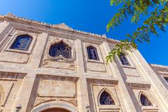 Ottoman Vezir Mosque (1856), now the Basilica of St Titus, Heraclion, Crete Stock Photos