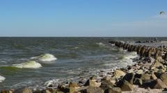 Windy at Azov sea coast Stock Footage