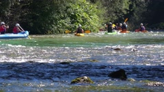Rafting at Bohinj lake, Slovenia Stock Footage