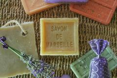 Marseille soap natural hygiene Stock Photos