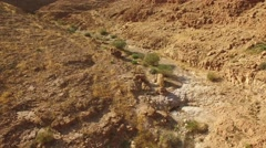 Beautiful aerial view of wilderness near Arad, Israel Stock Footage