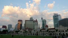 TIMELAPSE Sunset clouds above Merdeka,Kuala Lumpur,Malaysia Stock Footage
