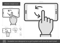 Mobile rotate line icon Stock Illustration