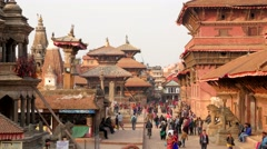 TIMELAPSE Crowds on Durbar square,Patan,Nepal Stock Footage