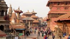 TIMELAPSE Crowds on Durbar square,Patan,Nepal Stock Footage
