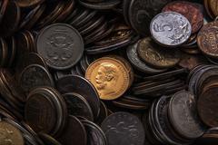 Old gold coin Stock Photos