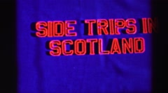 1952: side trips in scotland, the ancient island of iona ENGLAND Stock Footage