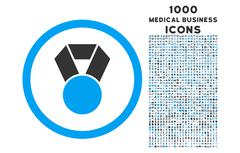 Achievement Medal Rounded Icon with 1000 Bonus Icons Stock Illustration